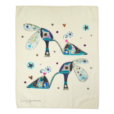 Flying Shoes Tea Towel