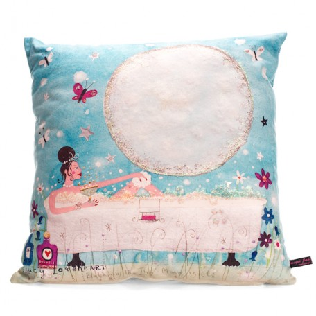 Bathing in the Moonlight Cushion