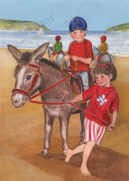 Children On A Donkey