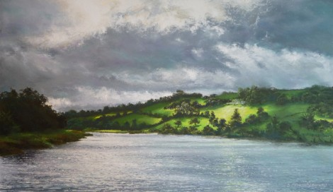 'Storm Clouds Gathering Over the River Dart'
