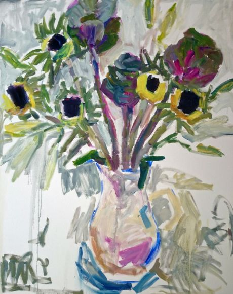 Cabbages and sunflowers in the jug
