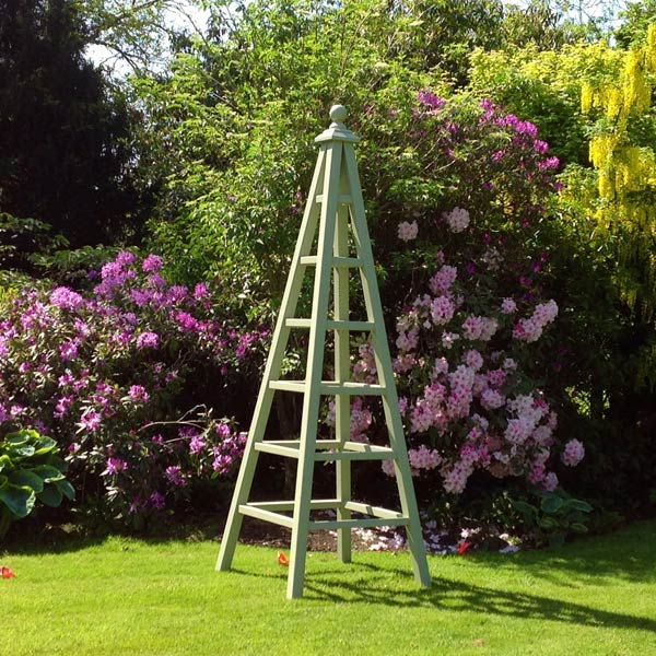9 Foot Tall Wooden Garden Obelisk