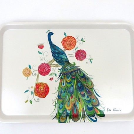 Splendid Peacock Large Serving Tray