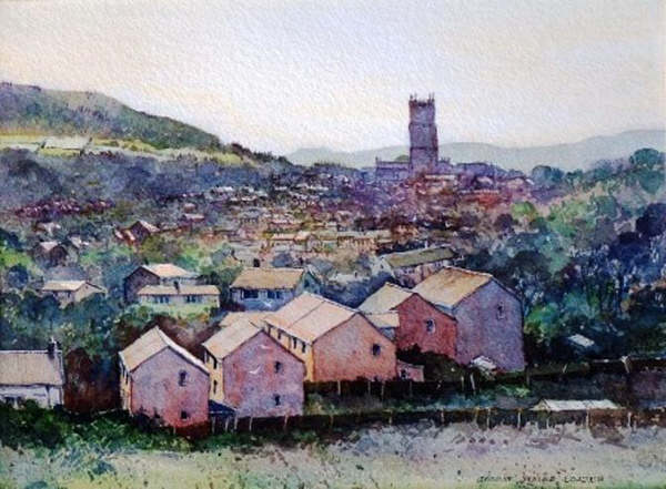 Ludlow from Gallows Bank.