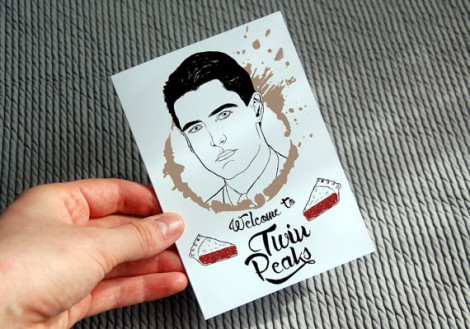 Twin Peaks Agent Dale Cooper Illustrated Greeting Card