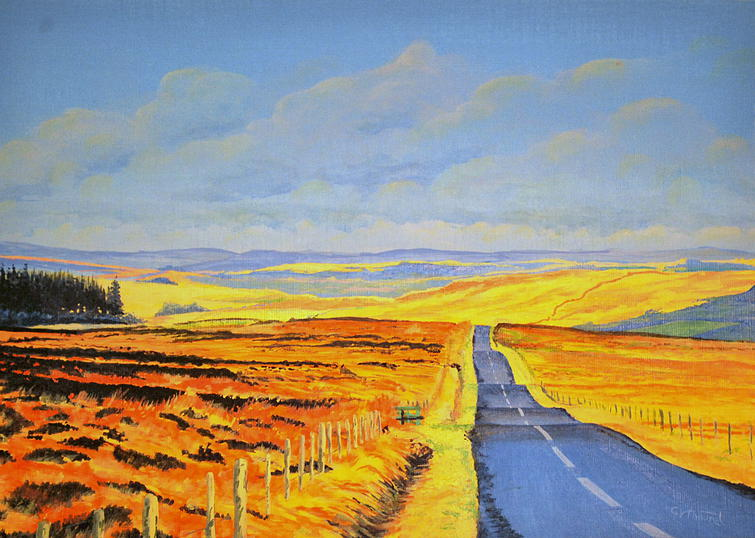Study for 'Blue Road to Scotland'