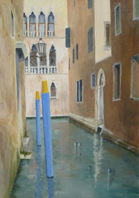 Blue Mooring Posts Venice