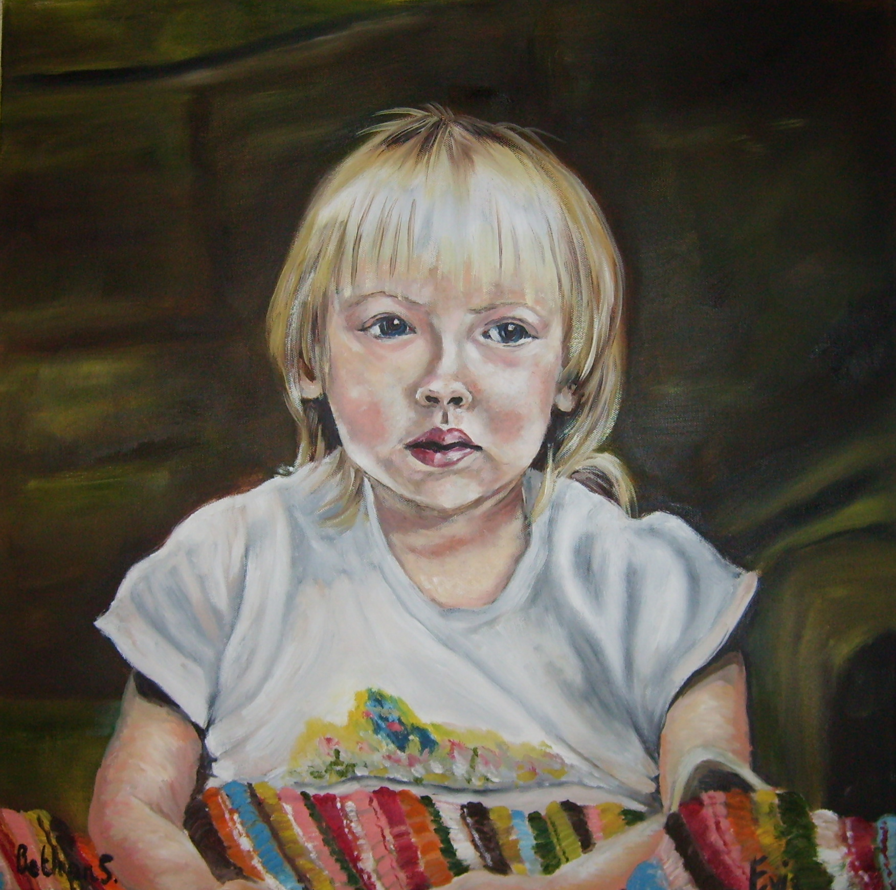 Portrait of a young girl with blanket