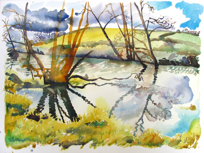 Winter, River Frome