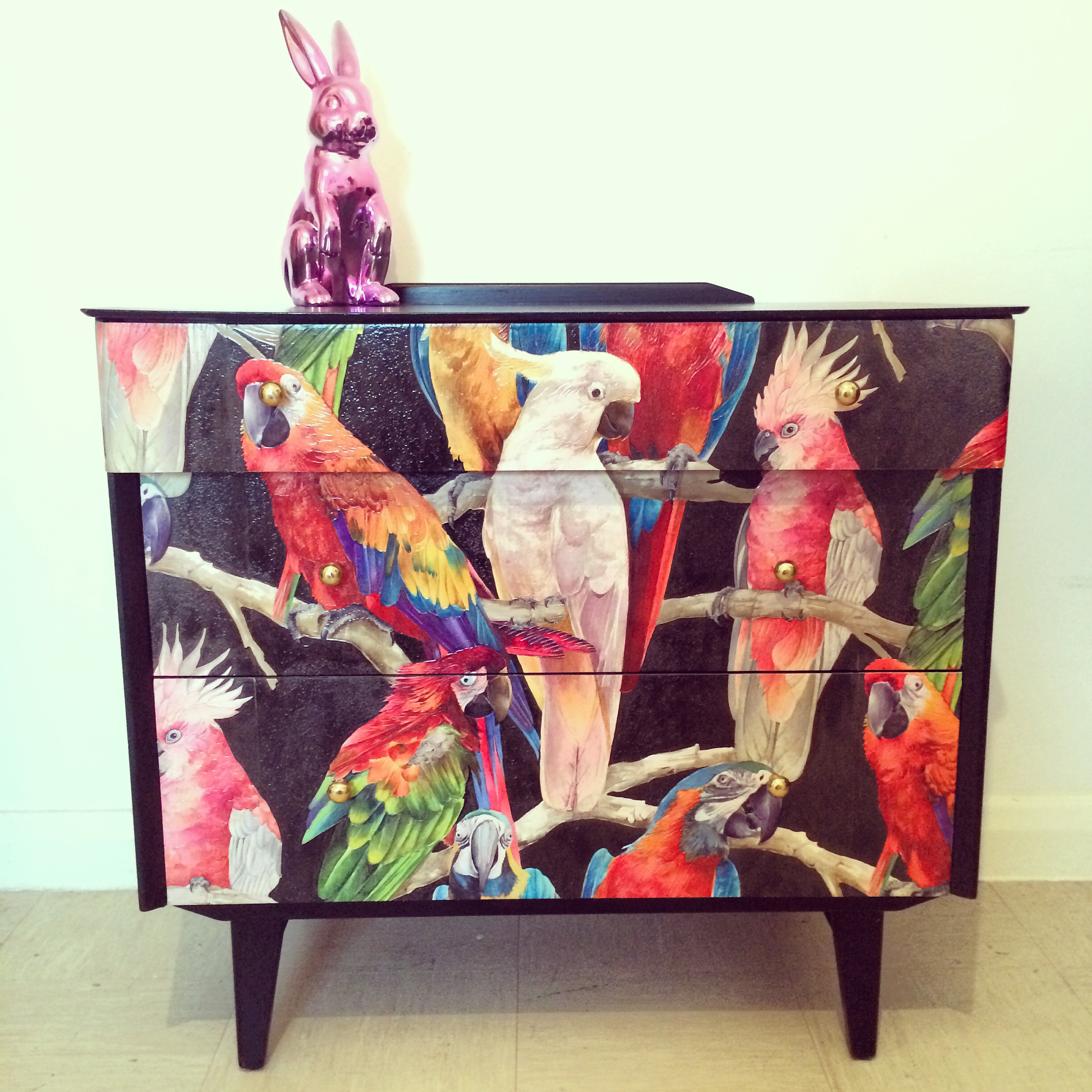 Upcycled parrots.