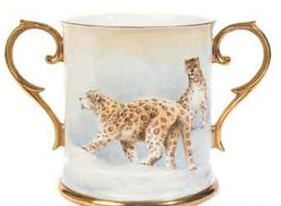Snow Leopards two handled Loving Cup