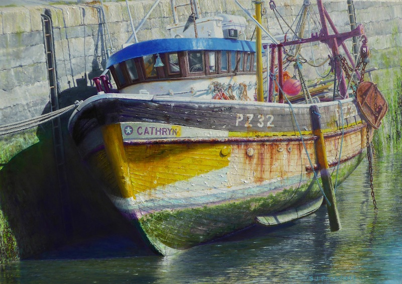 'The Cathryn in Harbour at Low Tide'