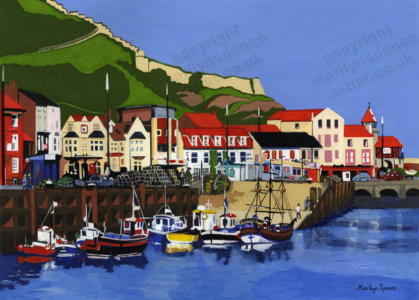 Hispaniola and Friends - Scarborough - original sold but prints and canvases available