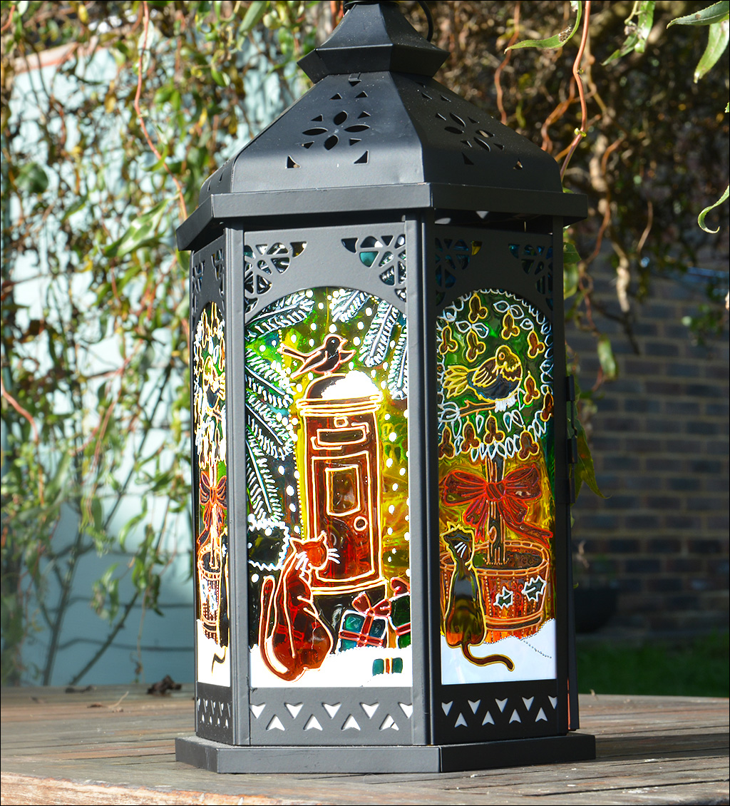 Christmas Cats Candle Lantern Postbox Partridge In A Pear Tree Hanging