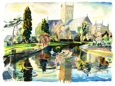 Late Afternoon by the Springs (Wells Cathedral)