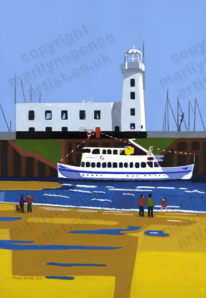 Lighthouse and Pleasure Boat