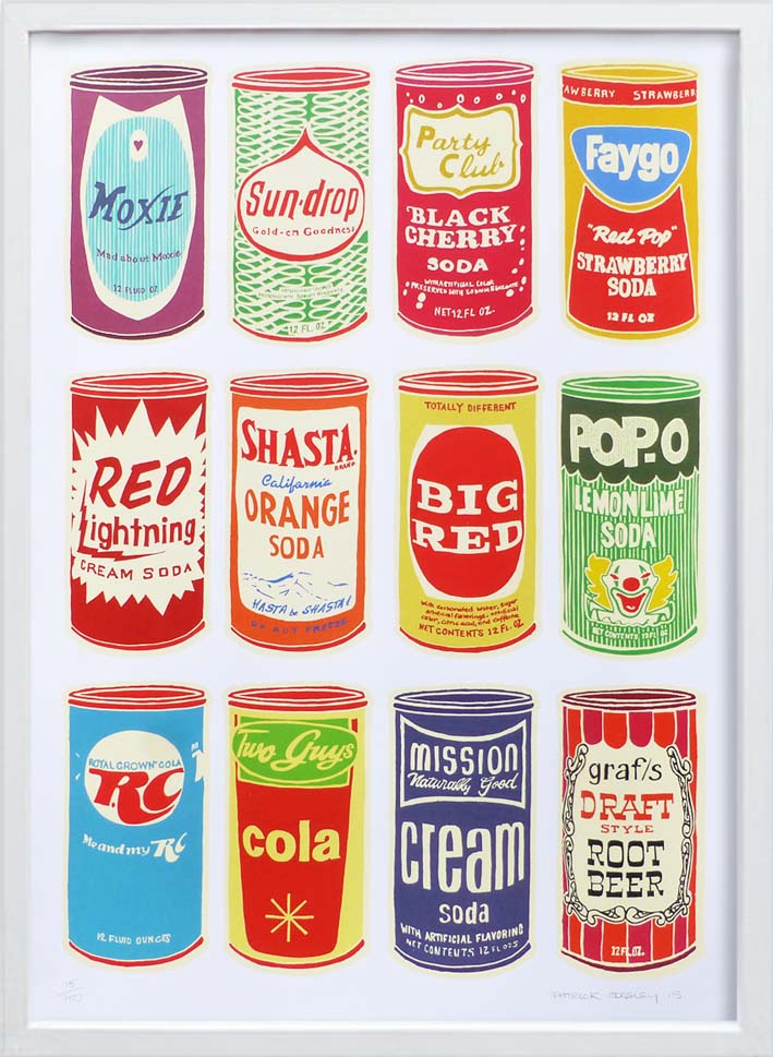 Retro Soda Cans