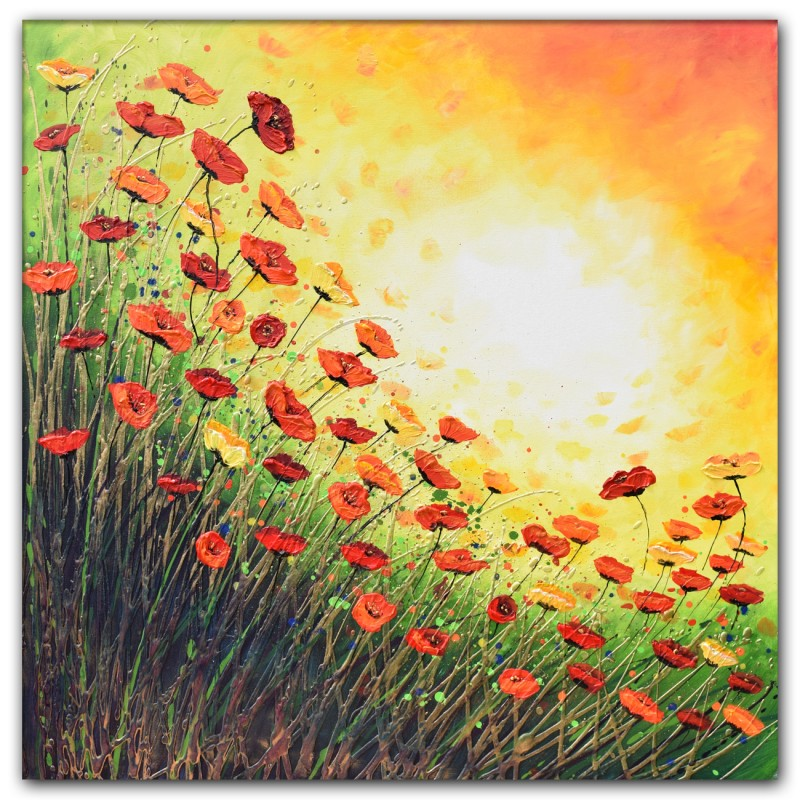 Popping with Red Poppies