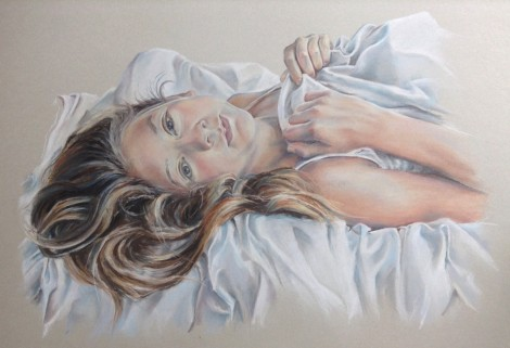 Pastel Portrait of girl