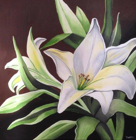 Lilly Flower Canvas