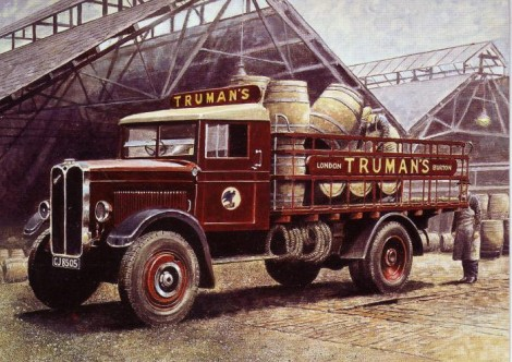 Trumans beer lorry