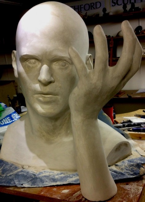 Monumental Head and Hand Plaster