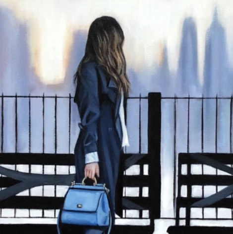Girl with the blue bag