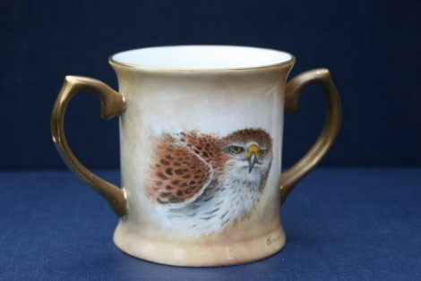 Bonelli Eagle small two handled Loving Cup
