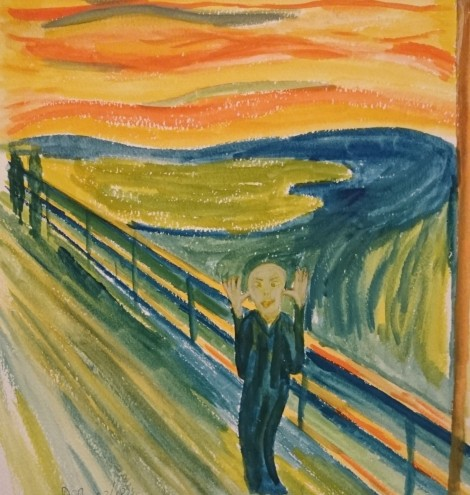 The Scream moments later