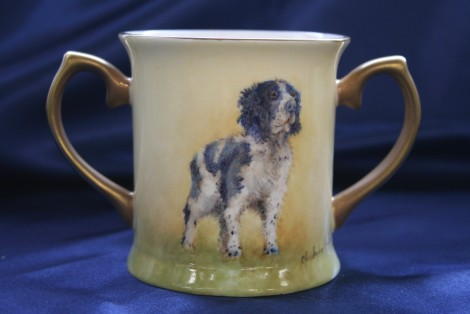 Spaniel small two handled Loving Cup