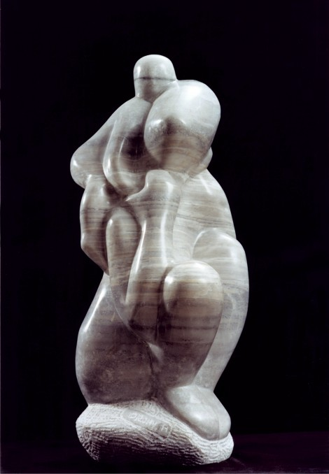 Mother and Child on her back by Shimon Drory