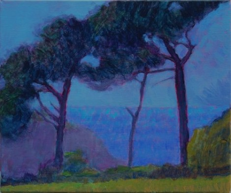 Pines and distant sea SOLD