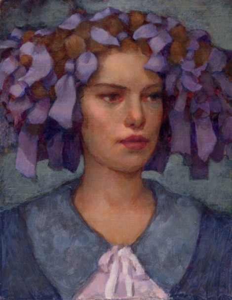 Girl With Lilac Ribbons