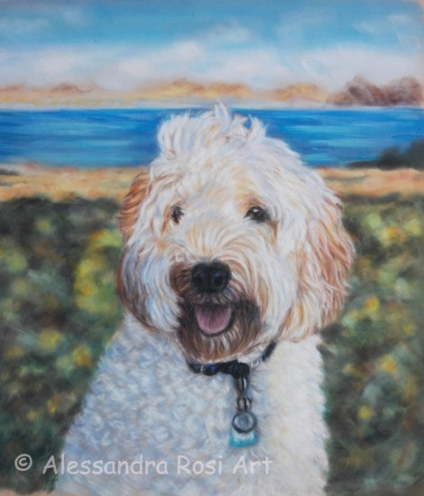 Dog portrait - Pastel Painting