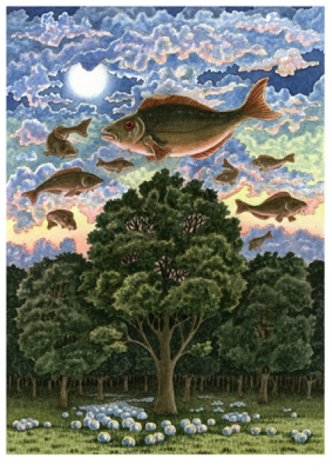 Fish Flying over Forest