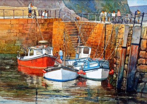 In Mousehole Harbour