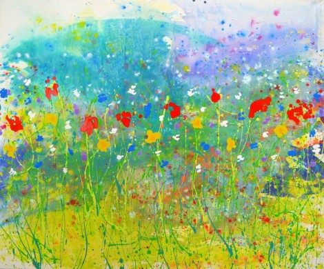 Wildflower Framed Canvas Print Signed