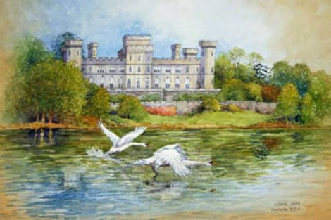 Eastnor Castle Flying Swans