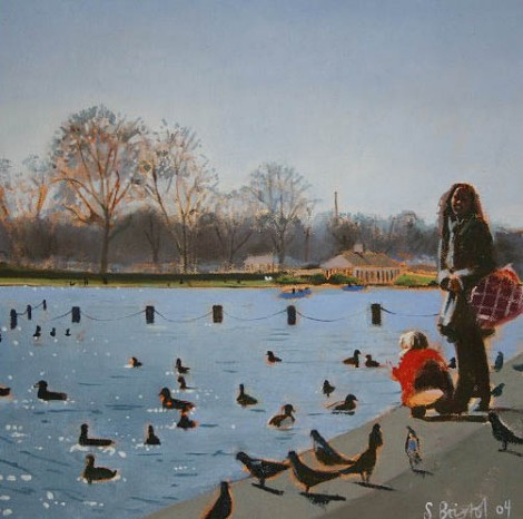 Feeding the ducks - Hyde Park