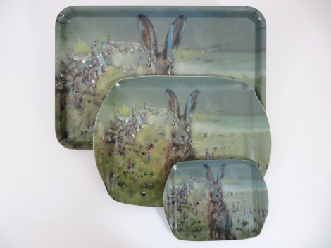Sunrise hare Serving Trays from the Artist Collection at Jacqui Joseph Designs