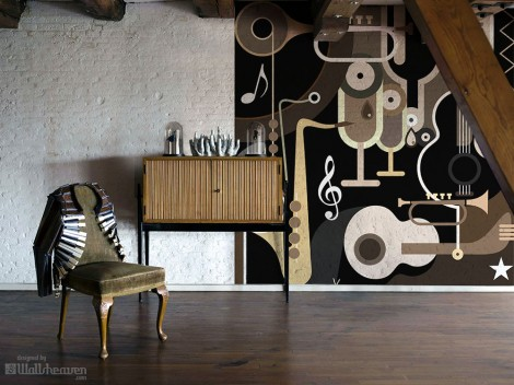 Stylish wall mural from the new Wallsheavens colection