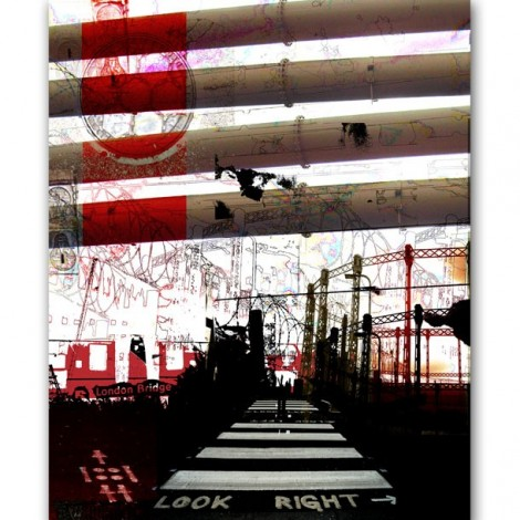 Industrial Landscape Mural by ATADesigns and Adrienne Chinn