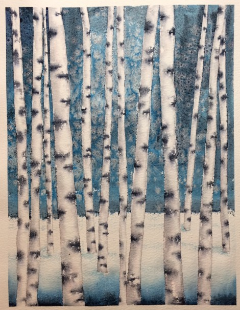 Blue Hour Birches