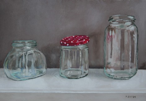 Three Glass Jars
