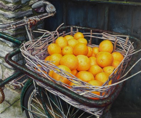 Bicycle Basket With Oranges