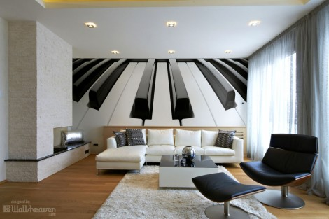Design Piano Wall Mural