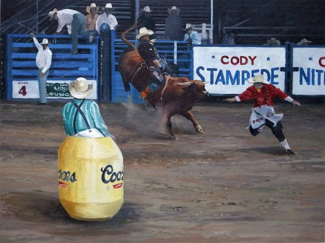 Bull Riding At The Cody Stampede