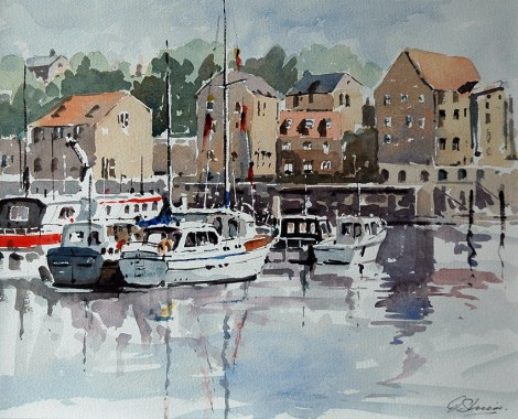 Whitby harbour N Yorks