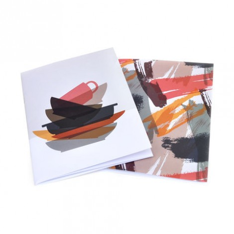 Dirty Dishes  Brush Strokes - A5 Notebook set