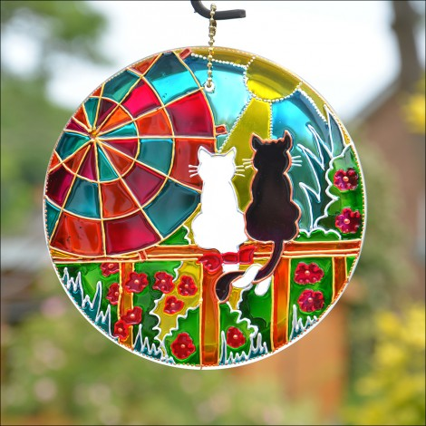 Sunshine Cat Hanging Sun Catcher